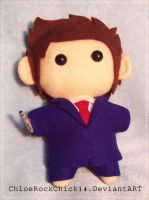Tenth Doctor - Chibi Plushie by ChloeRockChick14