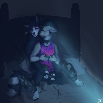 Midnight Video Games [[Commission]] by HunterNim
