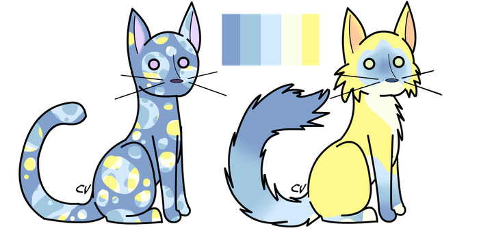 REDUCED PRICE Single Palette double cat adopt 4 by StarphishyAdopts