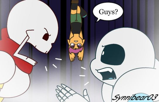 Scootaloo meets Papyrus by synnibear03