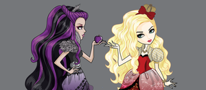 Raven Queen and Apple White from ever after high.. by AzZzAeLL