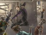 Hawkeye and zombies by wayleri