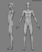 Model Sheet - Base Male by musegames