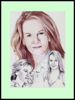 Portrait Renee O Connor Ballpoint Pen by Angeliqueperrin