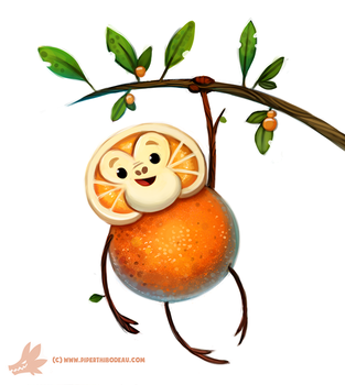 Daily Paint #1146. Orangeutan by Cryptid-Creations