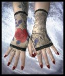 Rose Garden Arm Warmers by ZenAndCoffee