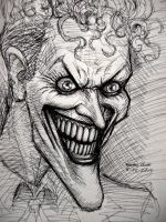 The Joker (pen sketch) by myconius