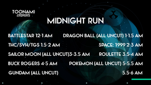 My Dream Toonami TNG Midnight Run Lineup by PeachLover94
