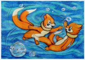 Touching in buizels by SSsilver-c