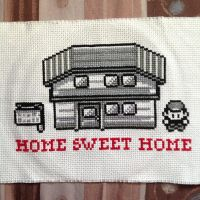 Pokemon Home Sweet Home Cross Stitch by badger-creations