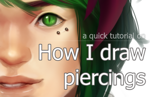 Video Tutorial on how I draw piercings by ymstr