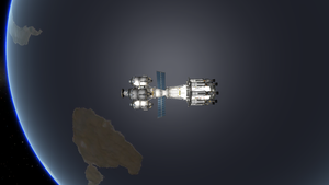 Laythe Lander in Orbit by menalaos1971