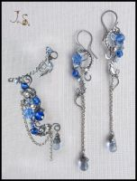 Dreams at dawn ear cuff and earrings set by JSjewelry