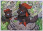 Zorua and zorua by SSsilver-c