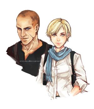 Resident Evil 6 - Jake and Sherry by spicyroll