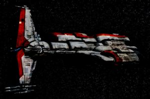 republic hammer head class battleship. by b-312