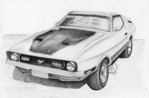 '72 Ford Mustang Mach1 by Dark-Lioncourt