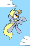 Derpy and a Muffin by JoeyWaggoner
