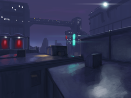 Rooftop Concept Art by SpartanK42