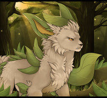 Leafeon by MapleSpyder