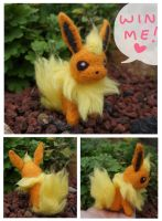 WIN ME! Felted flareon mini plush giveaway!! by scilk