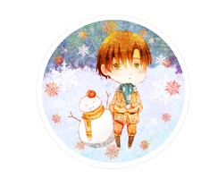 -Chibi Romano and Snowman Spain- by Caramel-Kon