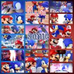 Sonic and Mario by PrincessEmerald7