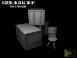 Hunter - Objects Group 1 WIP by mhofever