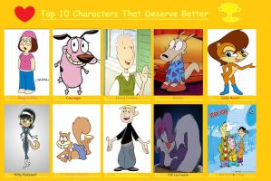 Top 10 Characters That Deserve Better by Spuriousones13