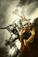 The Knight and The Clown by hellsign