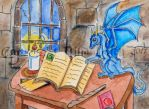 Dragon in Wizards Keep ACEO by The-GoblinQueen