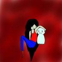Marceline The Vampire Queen and Ghost by Longownica
