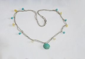 Turquoise and citrine necklace by MyArtself