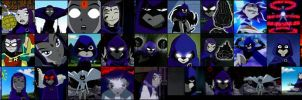 Many Faces of Raven by kazza-spexy
