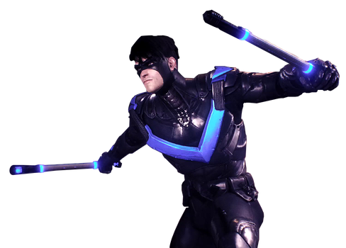 Arkham Knight - Nightwing Render by Spider-Man91