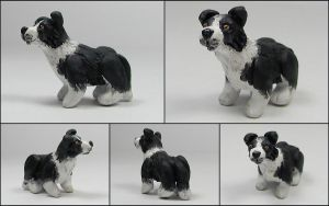 Little Border Collie Sculpture by LeiliaK