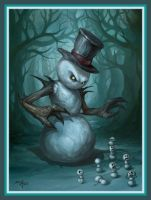 Isfir, the Evil Snowman (LeagueofLegends new char) by EalDrakiaz