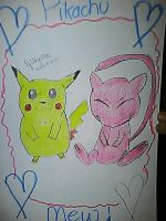 Pikachu and Mew by Angelgirl10