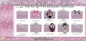 I'm a Princess Icons by MlleBarbie03 by mllebarbie03