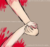 Our Hands Clasped so Tight... by TheOliveNut