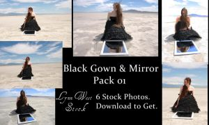 Black Gown and Mirror Pack 01 by Lynnwest-Stock