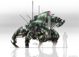 Military Robot by MackSztaba