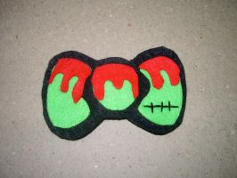 Zombie Hair Bow by kiddomerriweather