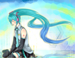 Hatsune Miku by Dark3li