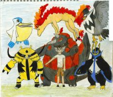 Pokemon Platinum Bro's team by Ripplestar4