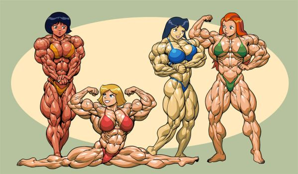 Totally Spies Line Up by Pokkuti