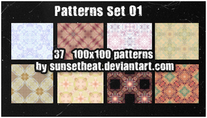 Patterns Set 01 by sunsetheat