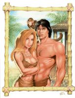 Tarzan, Jane and Friend by Tarzman