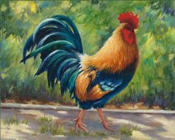 Red Rooster Panit Drawing by sexywoman1234