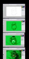MAKING OF HULK by themico